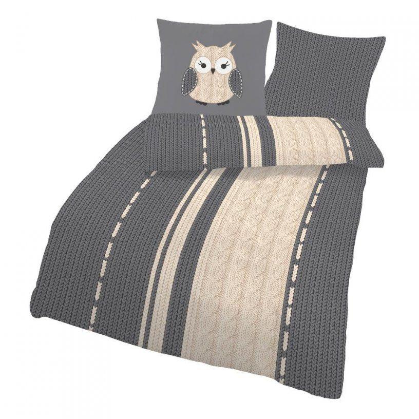 Biberbettwäsche Eule (135X200)  Dänisches Bettenlager von Biber Bettwäsche Mit Eulenmotiv Bild