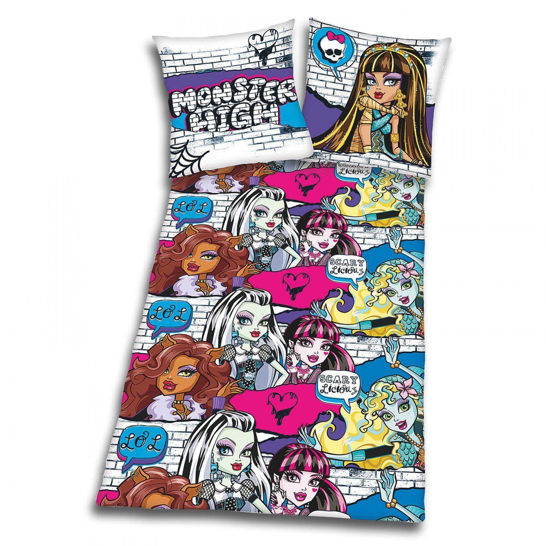 Biberbettwäsche Monster High  Baumwolle  135X200 Cm von Monster High Bettwäsche Biber Photo