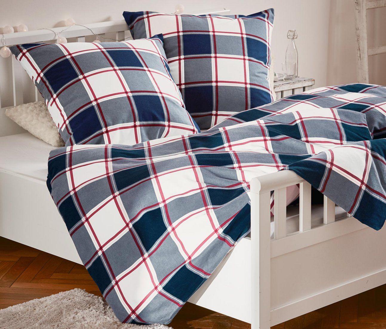 Biberbettwäsche Übergröße Online Bestellen Bei Tchibo 332108 von Biber Bettwäsche Rot Kariert Bild