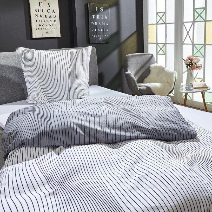 Biberbettwäsche Weißschwarz Preiswert Kaufen  Dänisches Bettenlager von Biber Bettwäsche Schwarz Weiß Bild