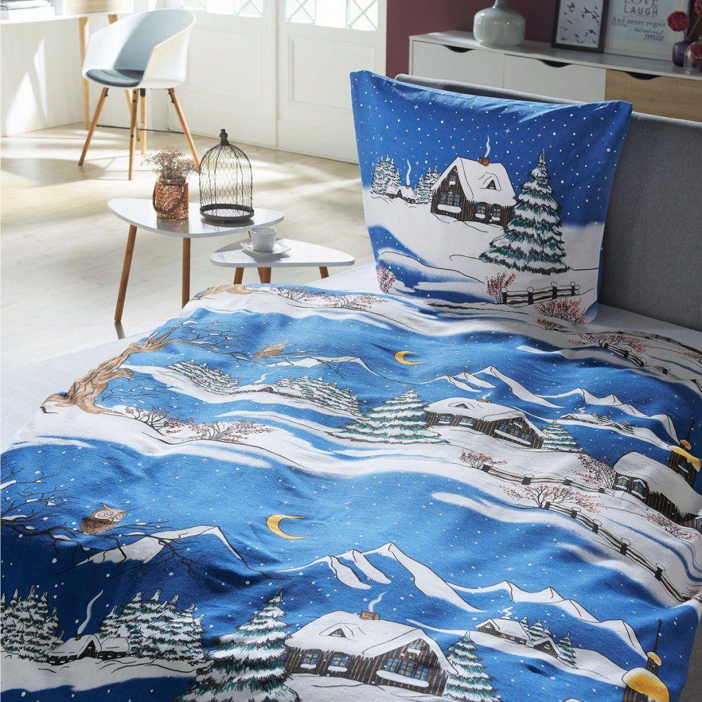 Biberbettwäsche Winterland Ii (135X200)  Dänisches Bettenlager von Bettwäsche Mit Wintermotiv Photo