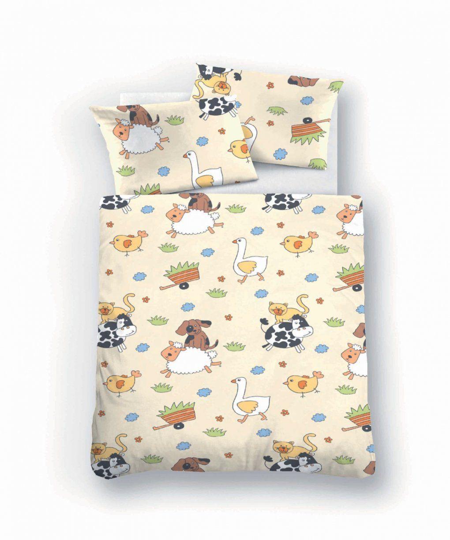 Biberna Fein Biber Baby Bettwäsche 100X135 + 40X60 Cm In Natur von Kinderbettwäsche Biber 100X135 Bild