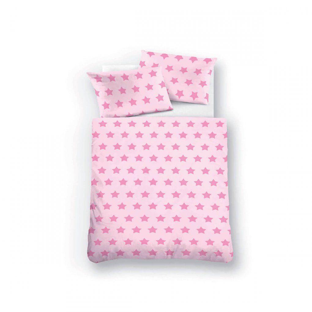 Biberna Kinderbettwäsche Sterne Pink ᐅ Dormando von Bettwäsche Kinder Sterne Photo