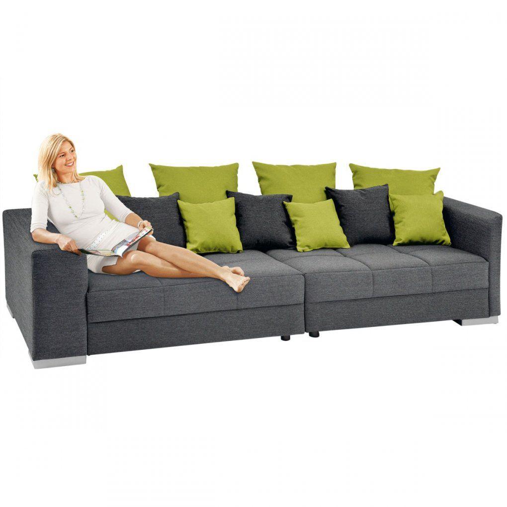 Big Sofa Swing Stoffbezug Graugrün Ca 285 X 91 X 116 Cm  Möbel Boss von Möbel Boss Big Sofa Bild