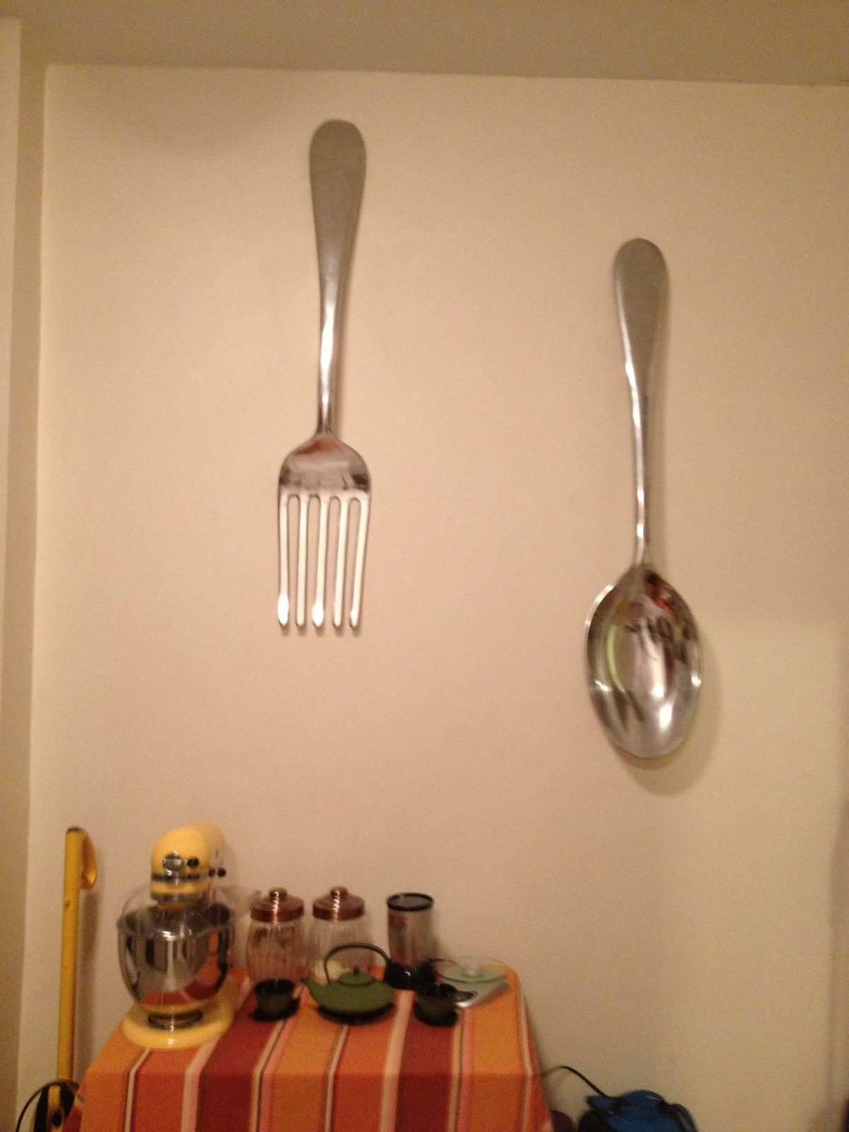 Big Spoon And Fork Wall Decor Best Of Giant Fork And Spoon Wall Art von Large Fork And Spoon Bild