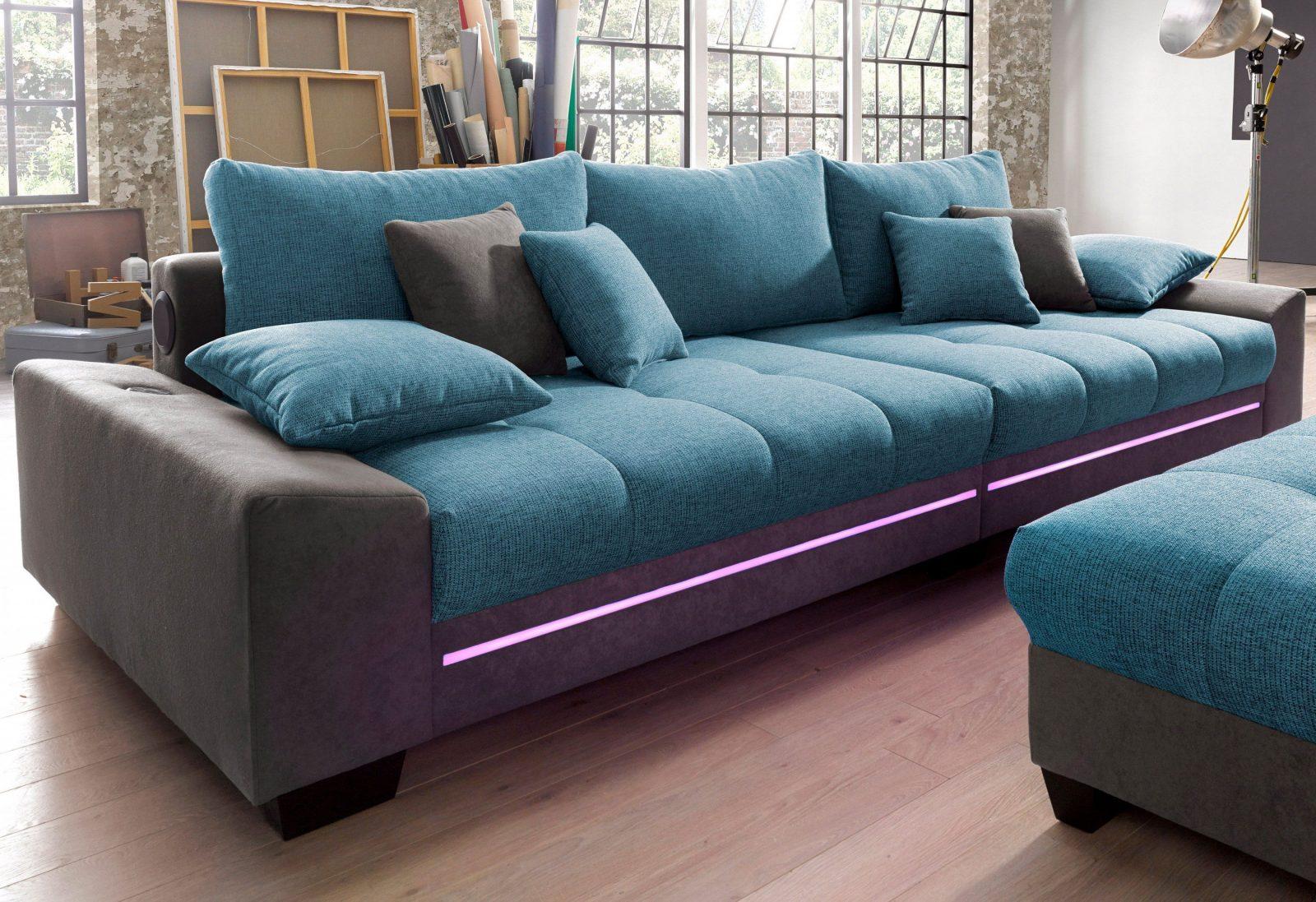 Bigsofa Mit Beleuchtung Wahlweise Mit Bluetoothsoundsystem von Couch Mit Led Beleuchtung Bild