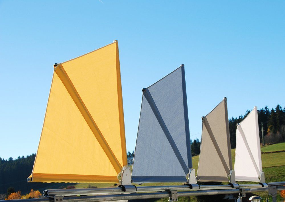 Bikatec Schirmsysteme  Balkonfächer  Wind Und Sichtschutz von Balkon Sichtschutz Fächer Ohne Bohren Bild