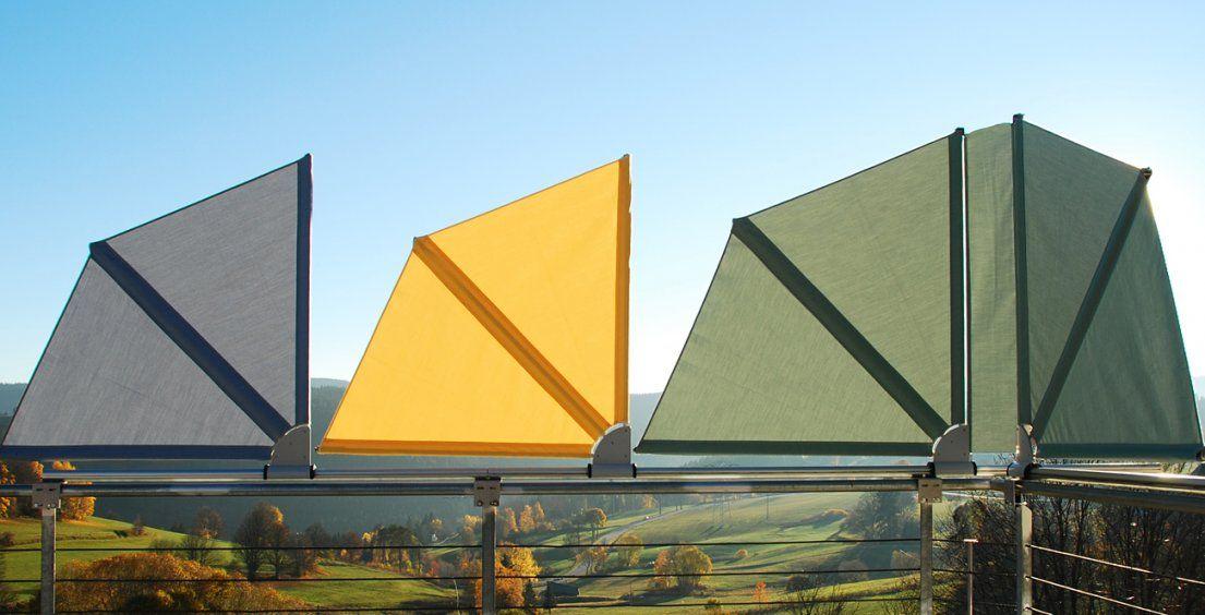 Bikatec Schirmsysteme  Balkonfächer  Wind Und Sichtschutz von Balkon Sichtschutz Seite Ohne Bohren Photo