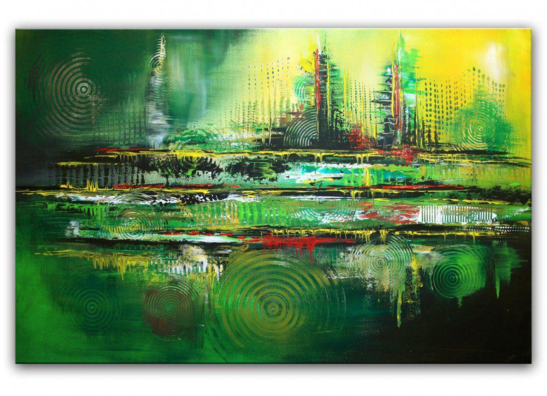 Bild Grün Acrylmalerei Struktur Kreis Von Alex B Bei Kunstnet von Handgemalte Bilder Auf Leinwand Abstrakt Photo