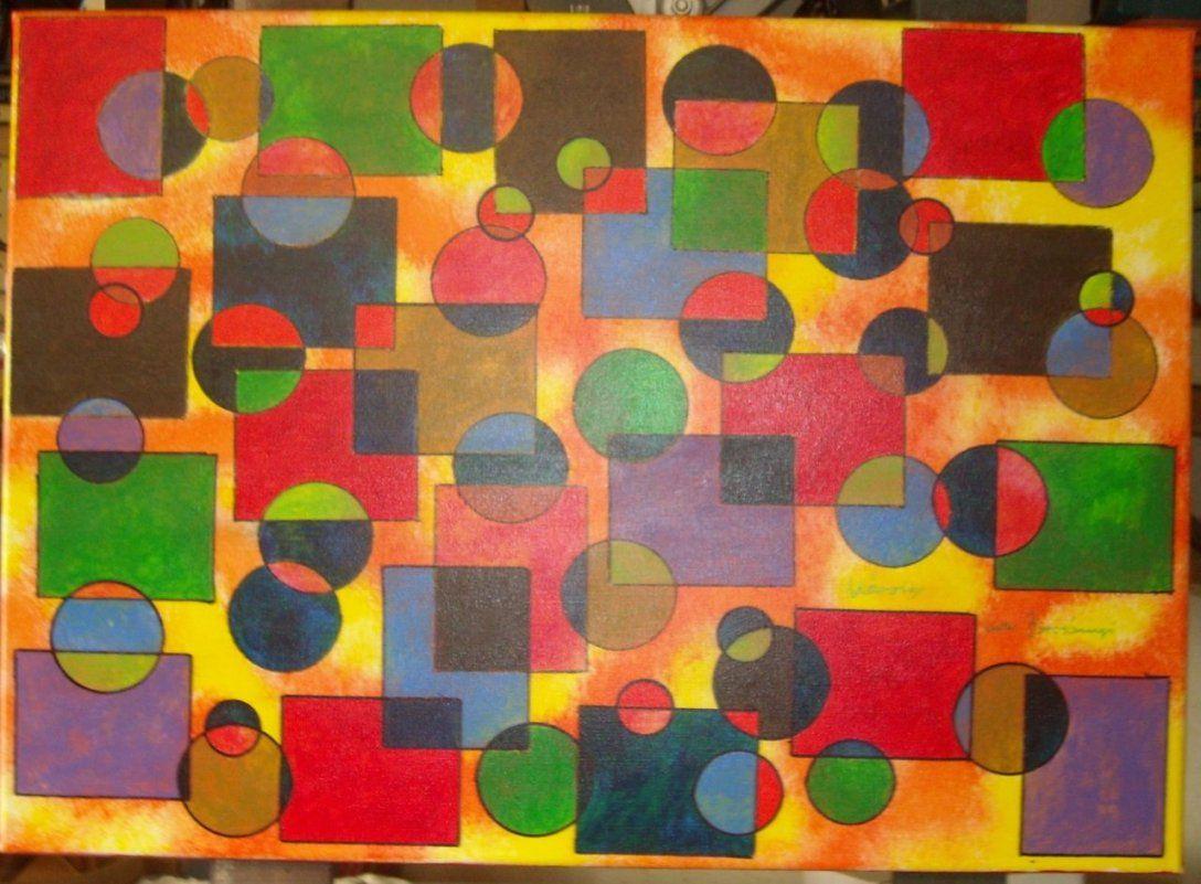 Bild Kreis Abstrakt Acrylmalerei Leinwand Auf Keilrahmen Von von Bilder Leinwand Abstrakt Keilrahmen Bild