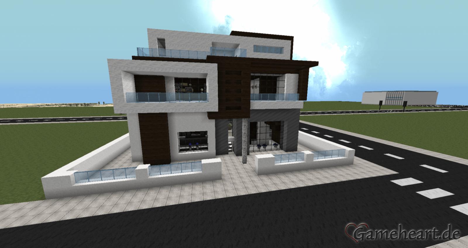 Bild Von Minecraft Häuser Modern Minecraft Haus Bauen Modernes Avec von Minecraft Häuser Modern Zum Nachbauen Bild