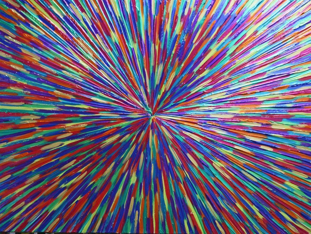 Bild Welt Globus Bunt Gemälde Von Michael Pfannschmidt Bei Kunstnet von Bilder Acryl Modern Abstrakt Bild