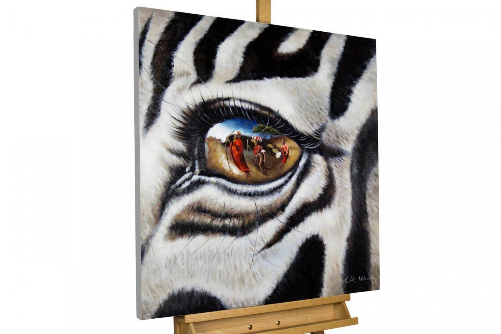 Bild Zebra Afrika Als Gemälde Kaufen  Kunstloft von Leinwandbilder Selbst Gemalt Modern Bild