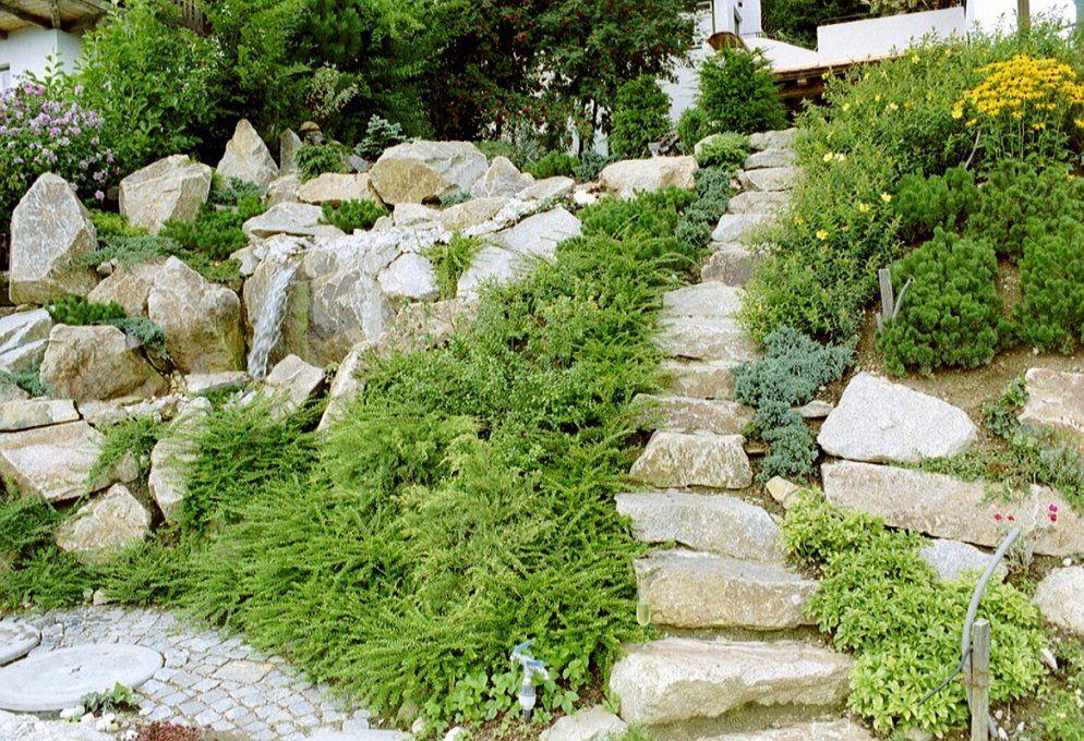Bilder Gartengestaltung › Der Service Gärtner  Gartengestaltung von Gartengestaltung Mit Steinen Am Hang Bild