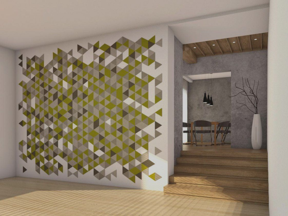 Bilder Von Flur Wand Gestalten Wandgestaltung Viele Formen Und von Wand Mit Farbe Gestalten Bild
