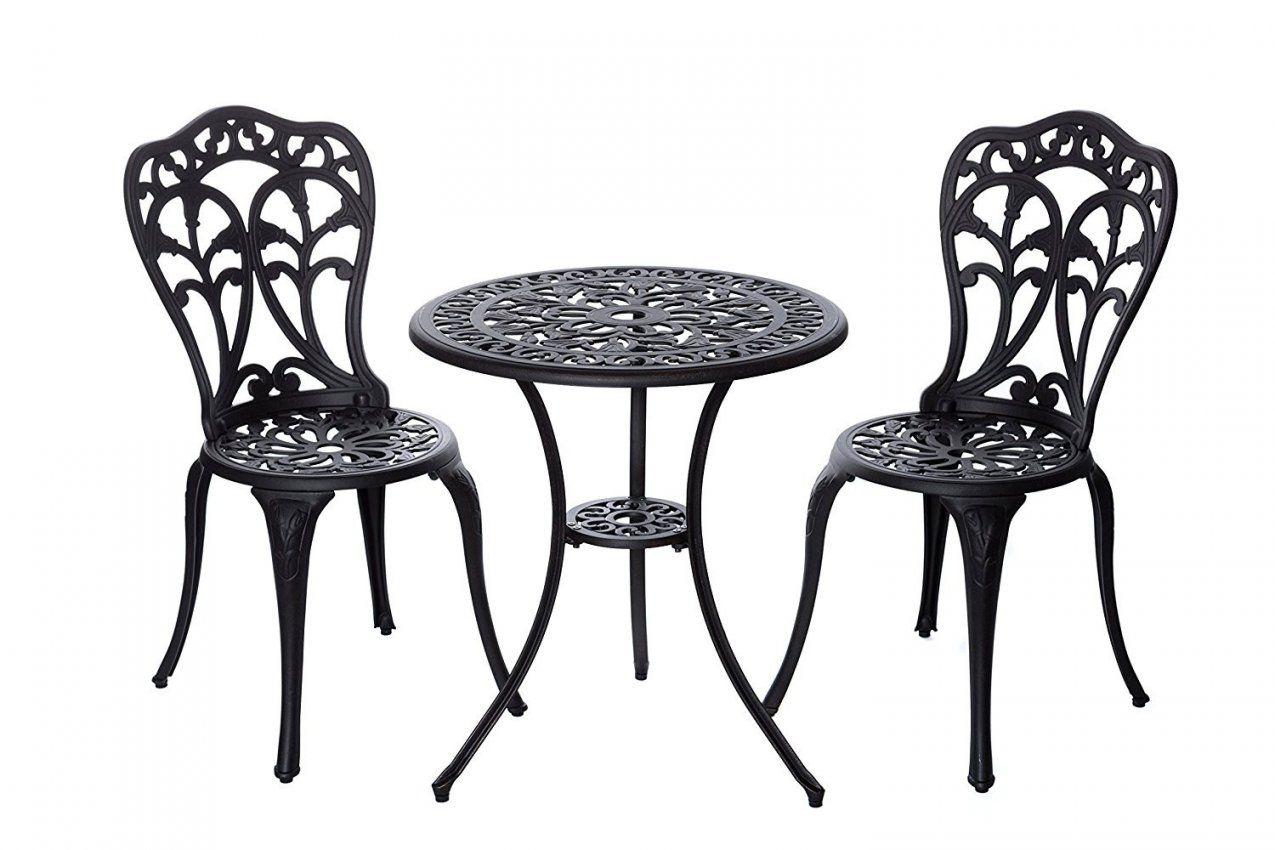 Bistro Tisch Set Bronze Bistroset Mit Tisch Und 2 Stühlen