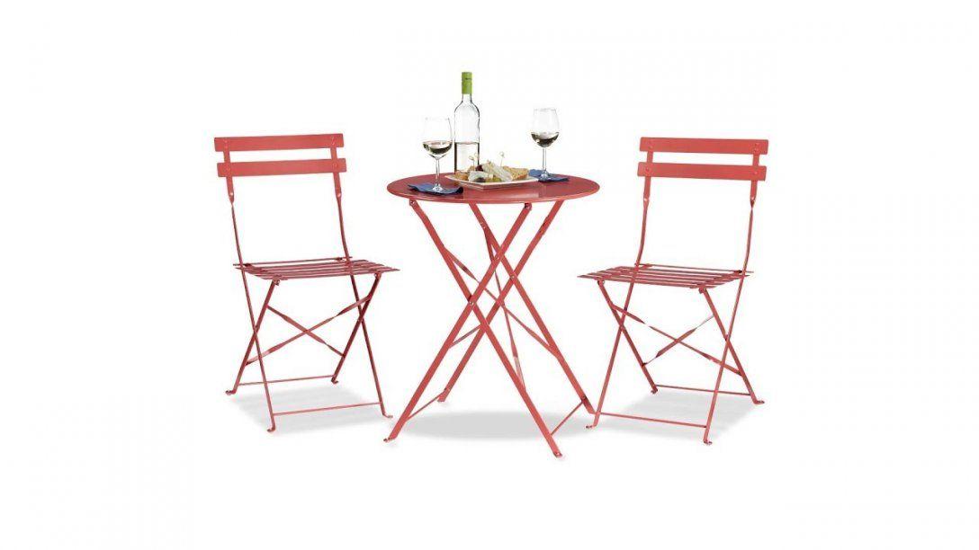 Bistrotisch Mit 2 Stühlen Klappbar Aus Metall Kaufen  Relaxdays von Bistrotisch Mit 2 Stühlen Photo
