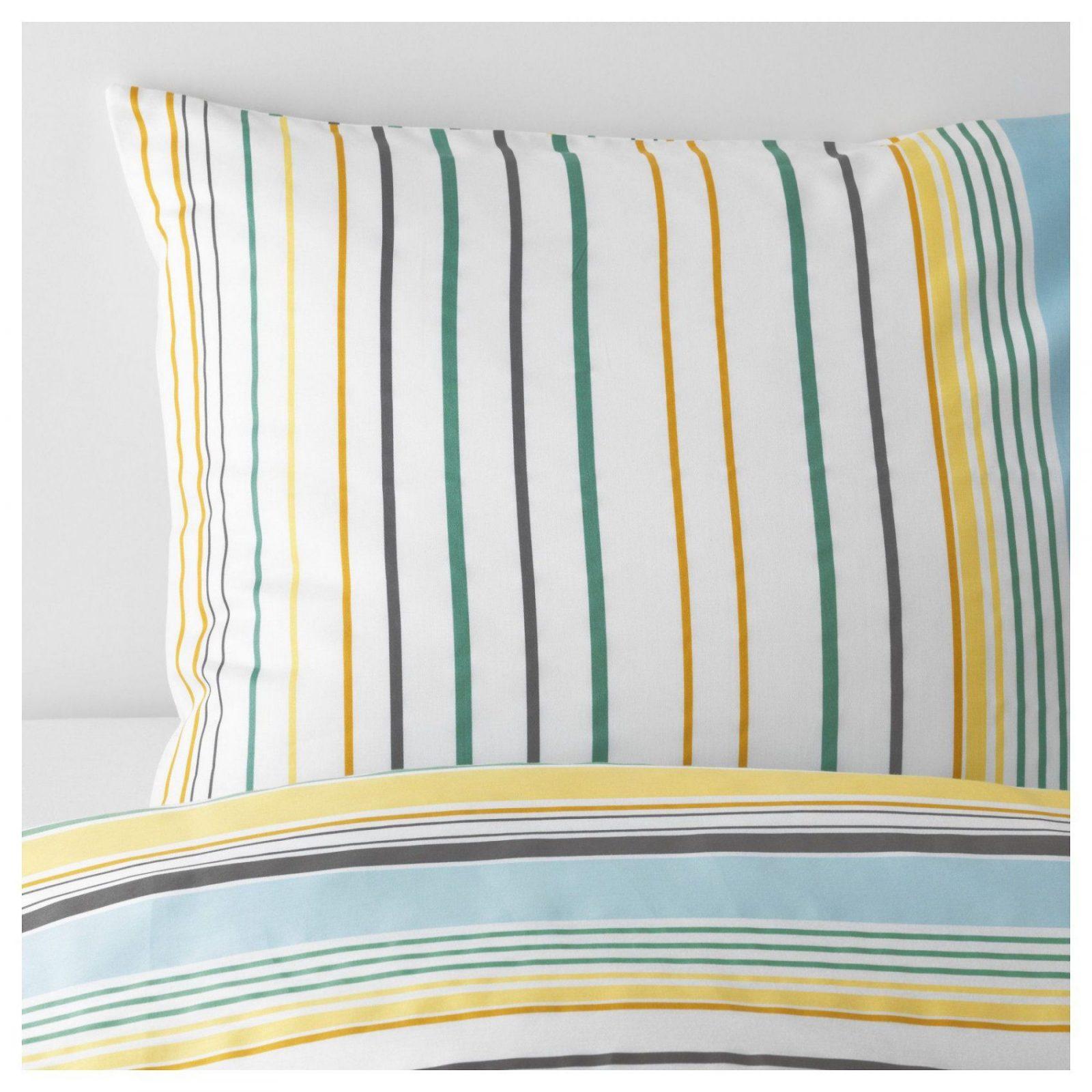 Blårips Bettwäscheset 2Teilig Gelb  Duvet And Products von Ikea Satin Bettwäsche Bild