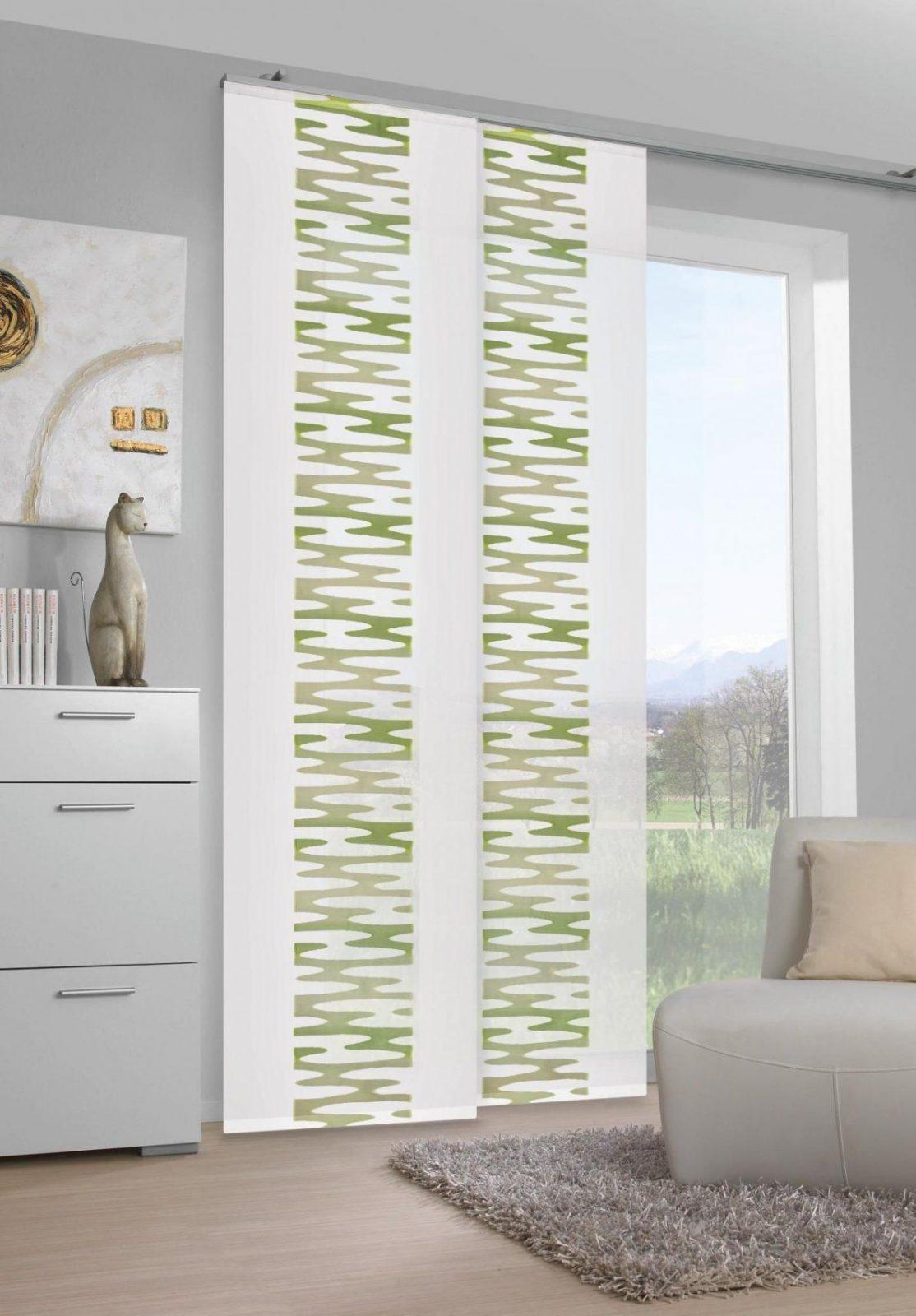 Blickdichter Vorhang Mit Grünem Muster Von Venda  Perdele Draperii von Flächenvorhang 30 Cm Breit Photo