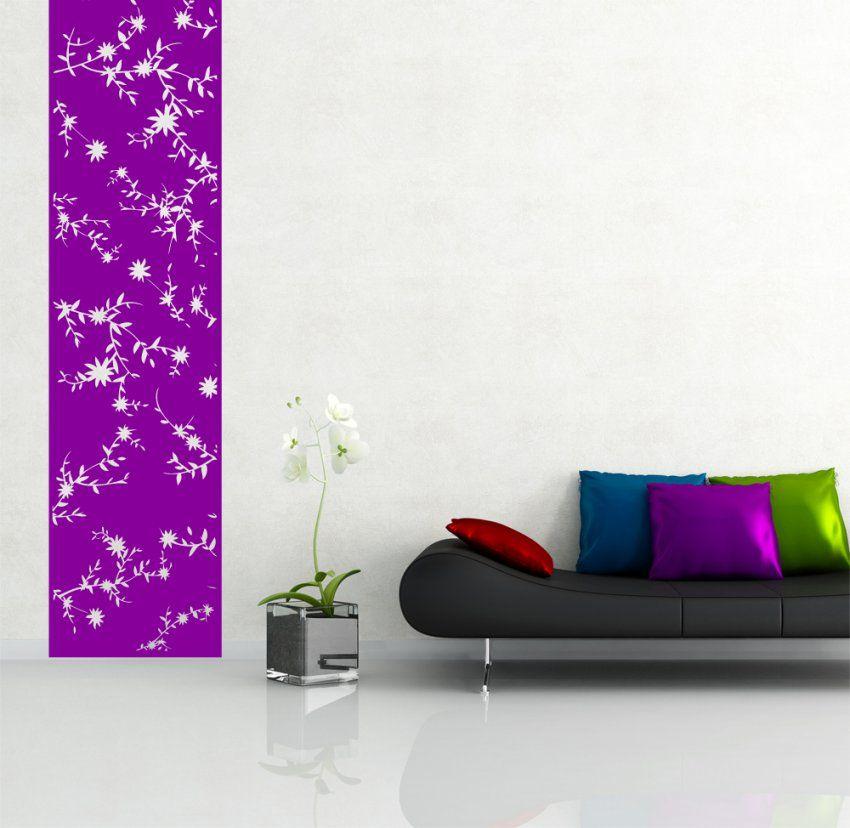 Blumen Wandbanner Sticker Wandtattoo Wandtattoos Wohnzimmer Dekoration von Aufkleber Für Die Wand Bild