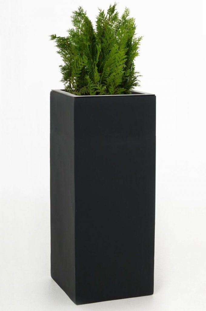 """Blumenkübel Pflanzkübel Fiberglas """"block"""" 100 Cm Anthrazit von Pflanzkübel 100 Cm Durchmesser Photo"""