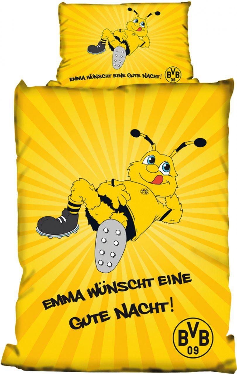 Borussia Dortmund Babybettwäsche Emma 100X135Cm von Bvb Bettwäsche Biber Photo