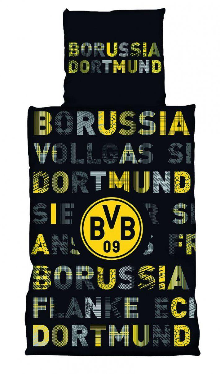 Borussia Dortmund Bvb Bettwäsche 135X200 Cm 155X220 Cm 100X135 Cm von Bvb Bettwäsche 155X220 Bild