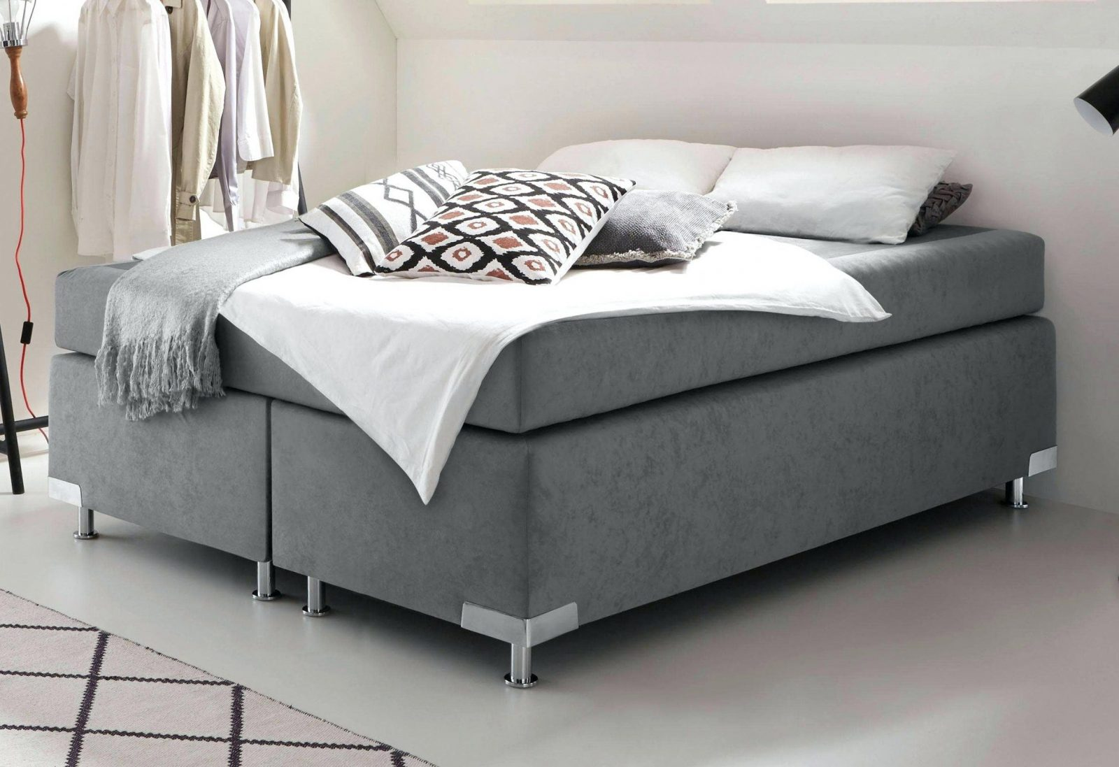 boxspringbett 140x200 cm ohne kopfteil g nstig sydney von. Black Bedroom Furniture Sets. Home Design Ideas