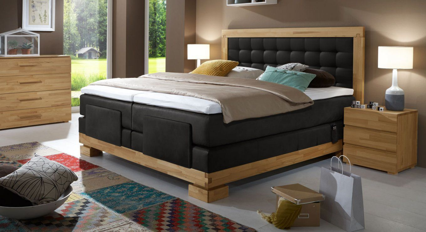 boxspringbett mit motor in 180x200 cm viterbus elektro von boxspringbett 180x200 elektrisch. Black Bedroom Furniture Sets. Home Design Ideas