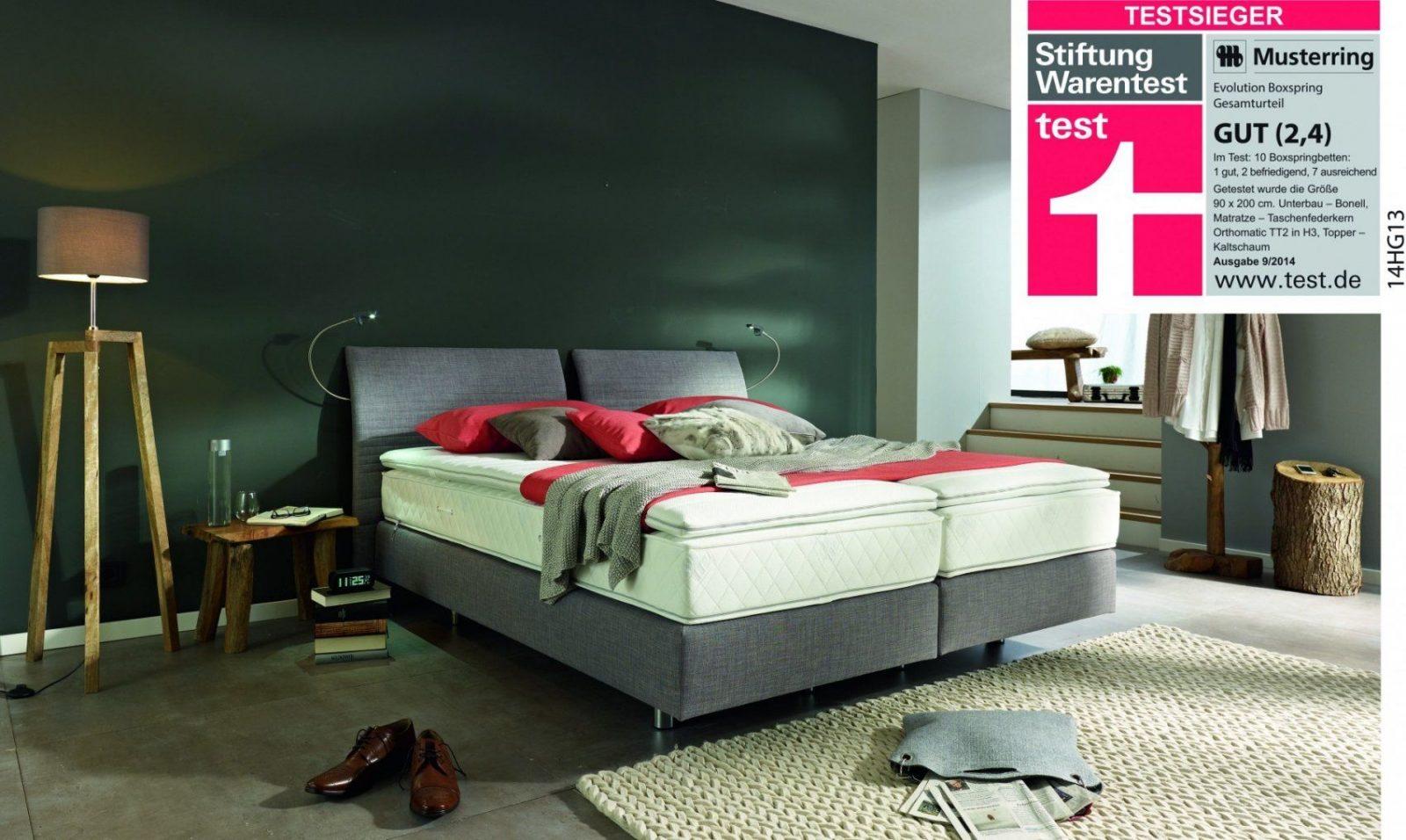 boxspringbett testsieger stiftung warentest haus design. Black Bedroom Furniture Sets. Home Design Ideas