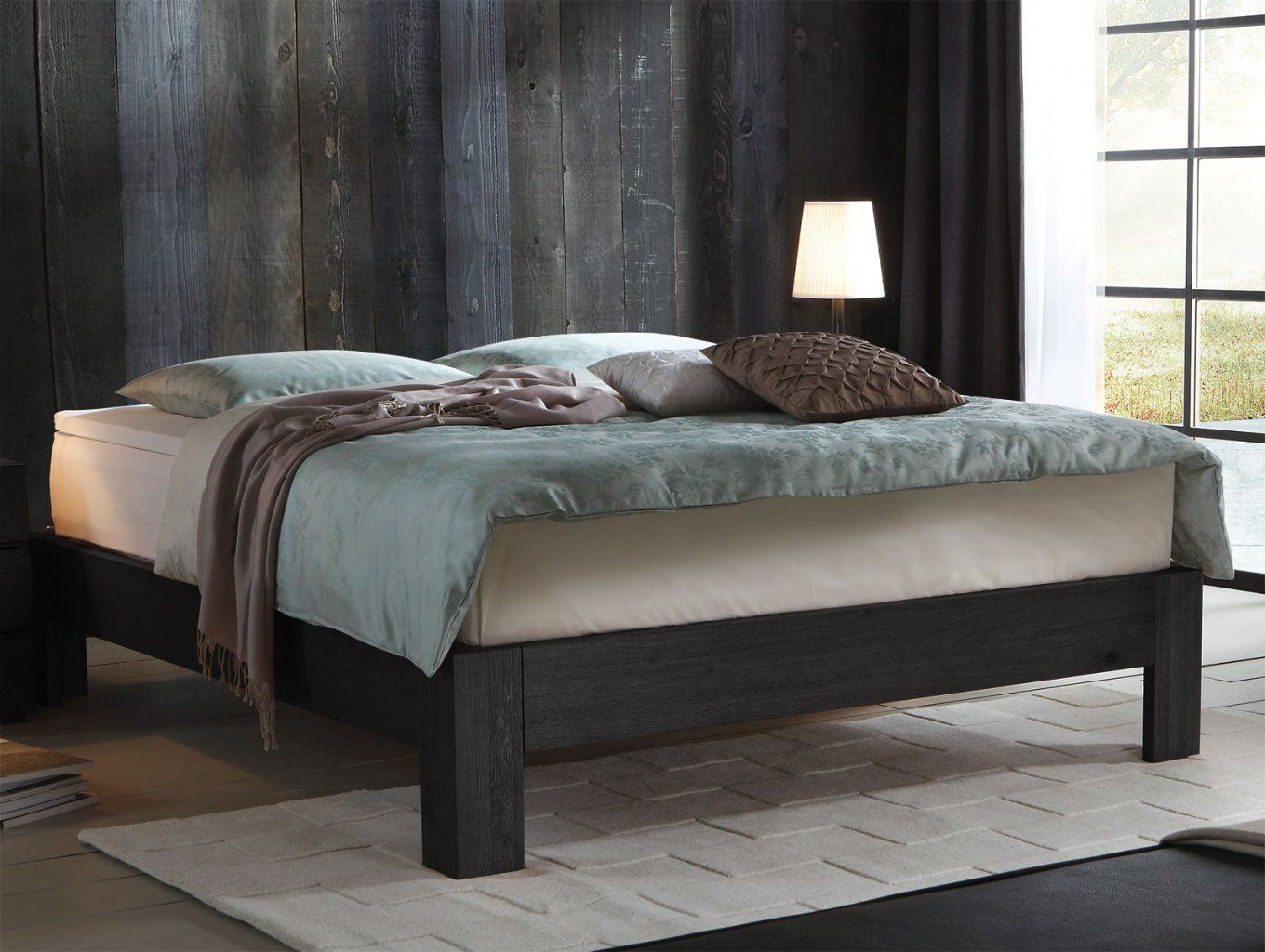 boxspringbett mit bettkasten boxspringbett damaso in grau. Black Bedroom Furniture Sets. Home Design Ideas