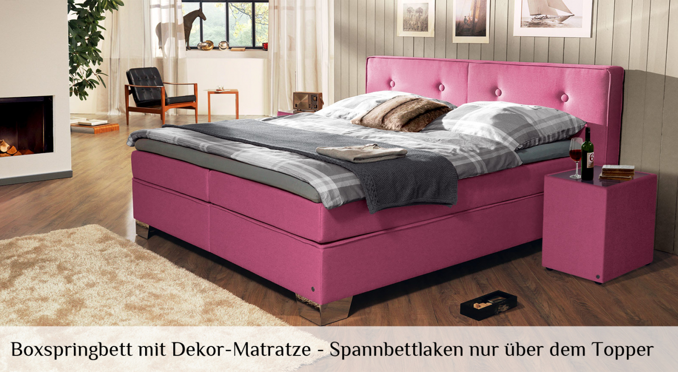boxspringbett topper beziehen haus design ideen. Black Bedroom Furniture Sets. Home Design Ideas