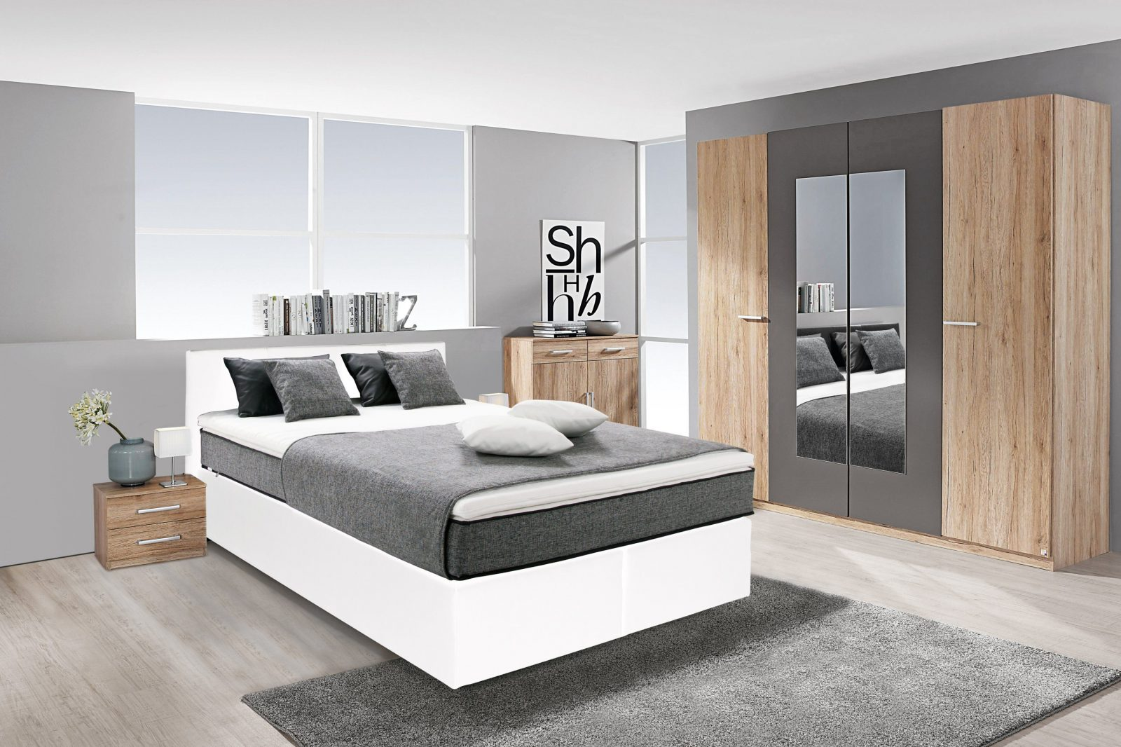 breckle boxspringbett inkl topper haus design ideen. Black Bedroom Furniture Sets. Home Design Ideas
