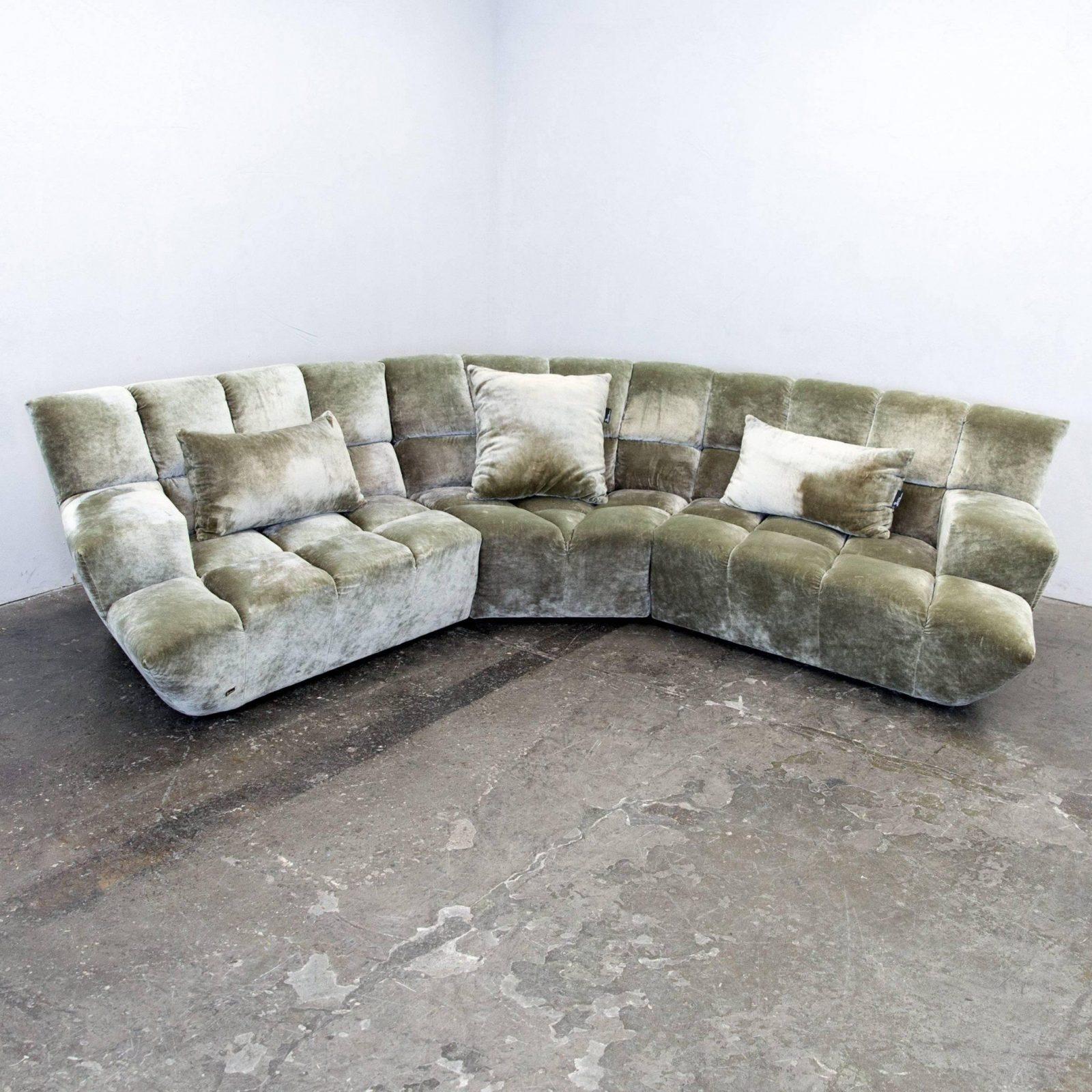 Bretz Cloud 7 Designer Cornersofa Silver Green Fabric Couch Modern von Bretz Sofa Cloud 7 Bild