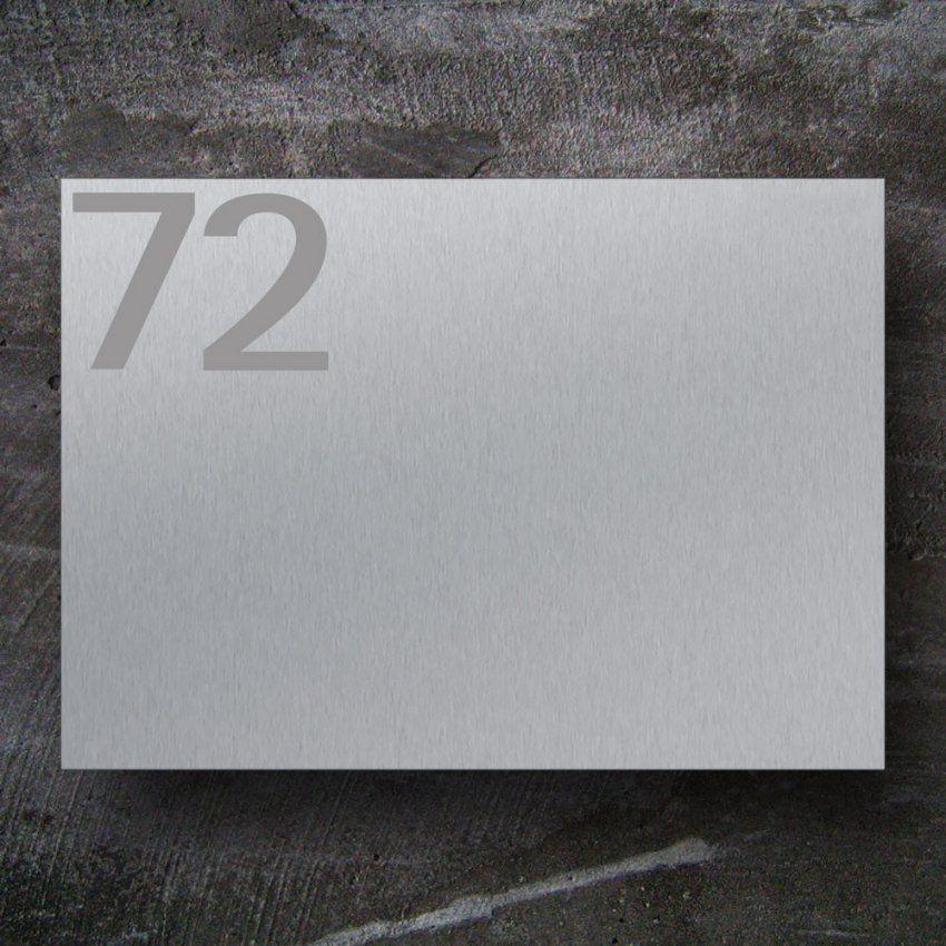 Briefkasten Edelstahl B1 Big Number von Briefkasten Edelstahl Mit Hausnummer Bild