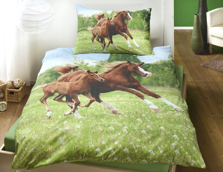 Bettwäsche Pferde Fotodruck Haus Design Ideen