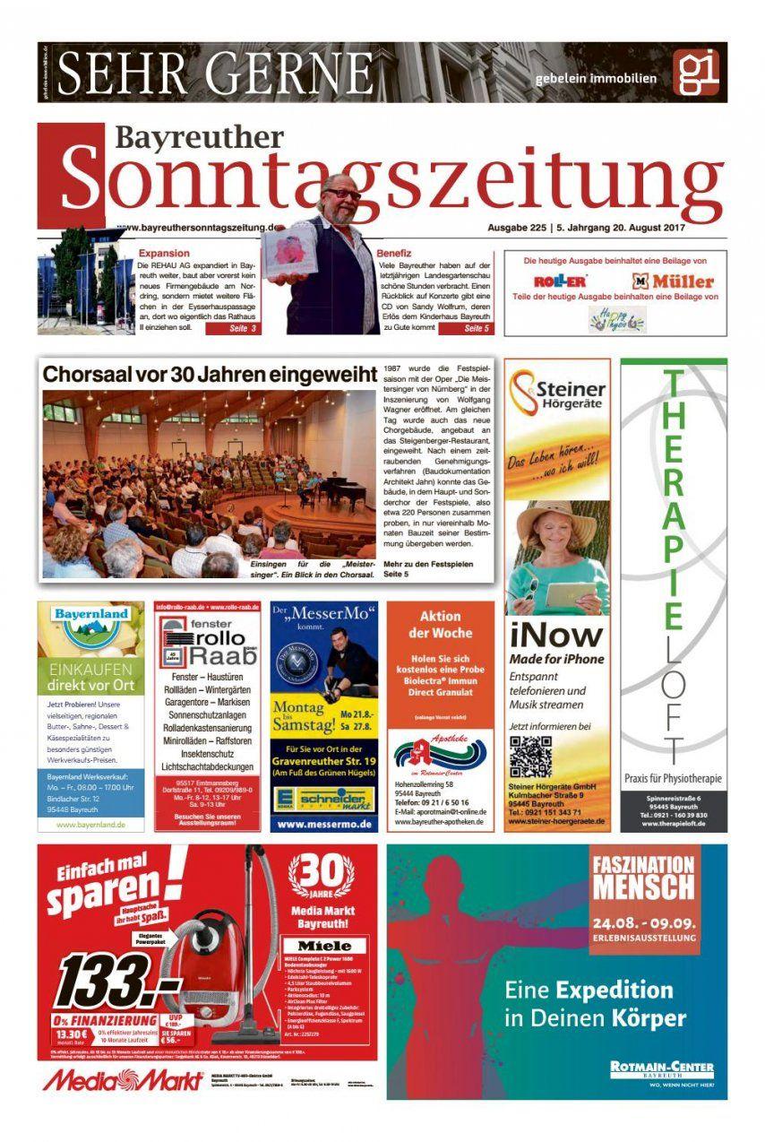 Btsz 200817 Webbayreuther Sonntagszeitung  Issuu von Bella Donna Bettlaken Werksverkauf Bild
