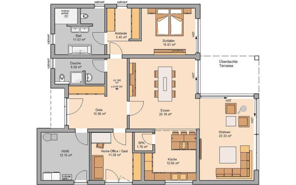 Bungalow Bauen  Barrierefreies Wohnen  Kernhaus von Bungalow Grundriss 5 Zimmer Bild