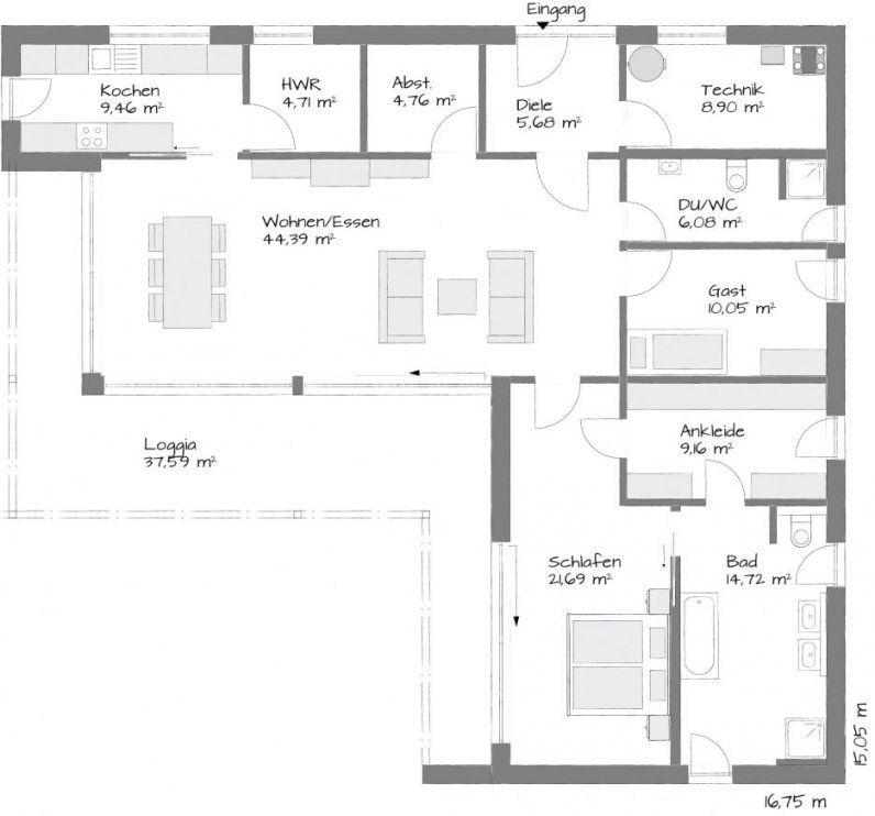 Bungalow L Form von Haus L Form Grundriss Bild