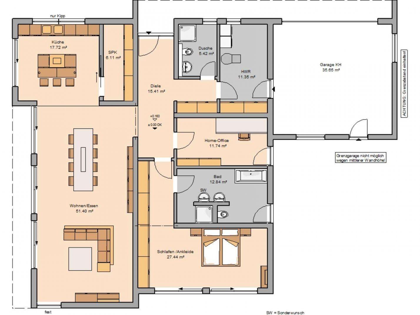 Bungalow Purea Im Bauhausstil  Kernhaus von Grundriss Bungalow 160 Qm Bild
