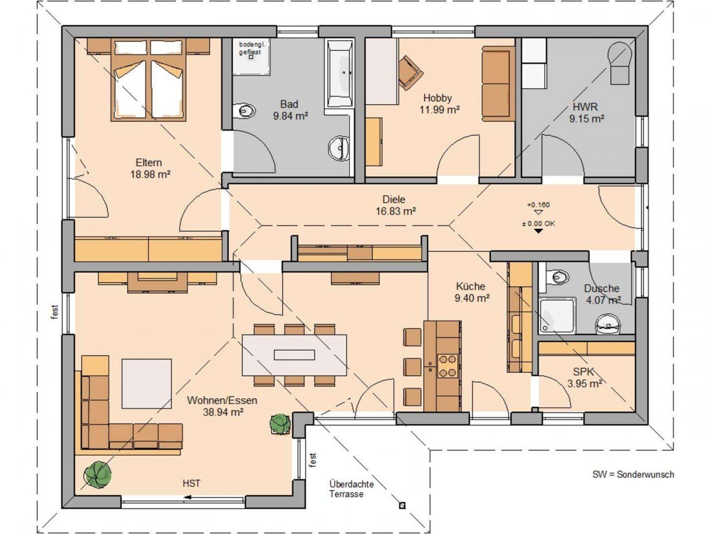 Bungalow Vita Von Kernhaus  Seniorengerechtes Wohnen von Bungalow Grundriss 5 Zimmer Photo