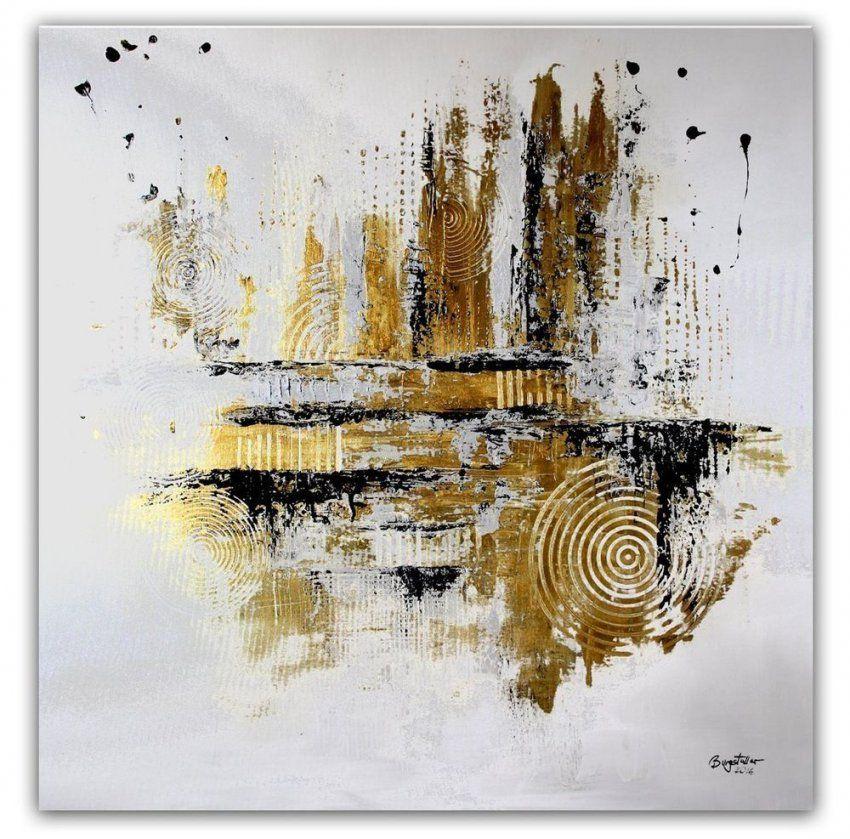 Burgstaller Abstrakte Malerei Original Gemälde 100X100 Moderne Kunst von Abstrakte Bilder Selbst Gestalten Bild