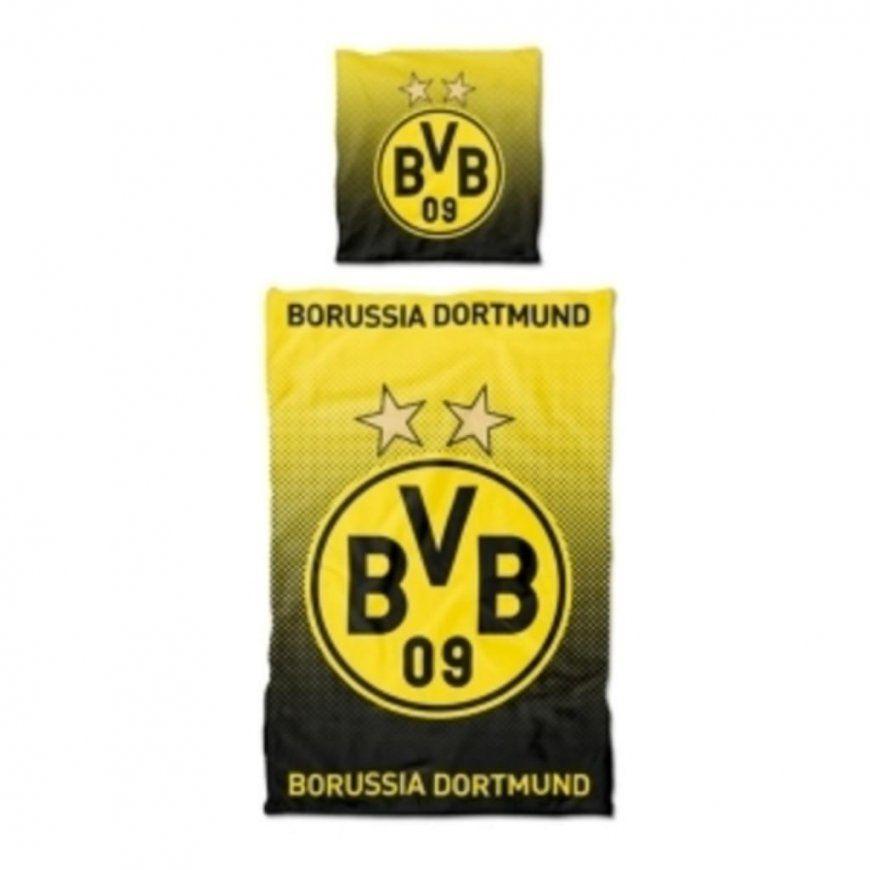 Bvb Borussia Dortmund Linon Bettwäsche 2 Teilig  Real von Bvb Bettwäsche 135X200 Photo