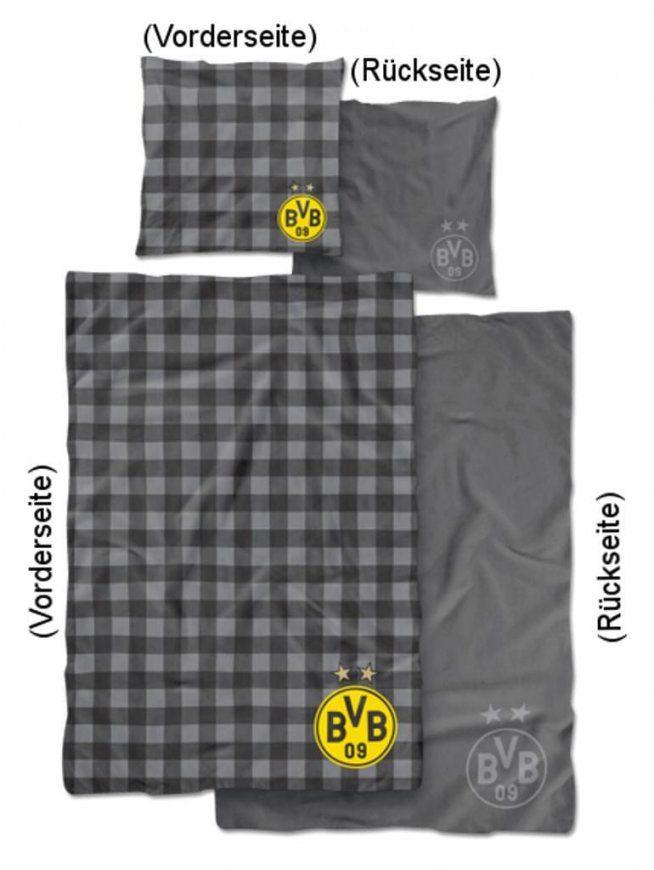 Bvb Borussia Dortmund Linon Wende Bettwäsche 2  Real von Bvb Bettwäsche Real Photo