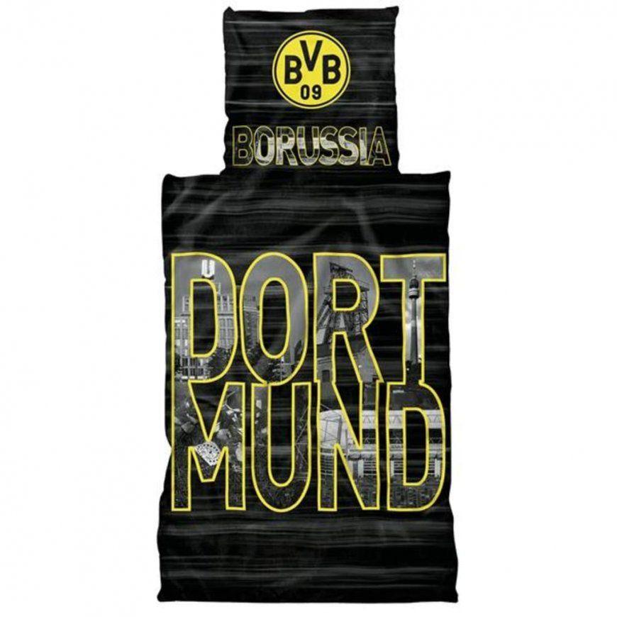 Bvb Borussia Dortmund Renforcébettwäsche 135 X  Real von Bvb Bettwäsche Biber Bild