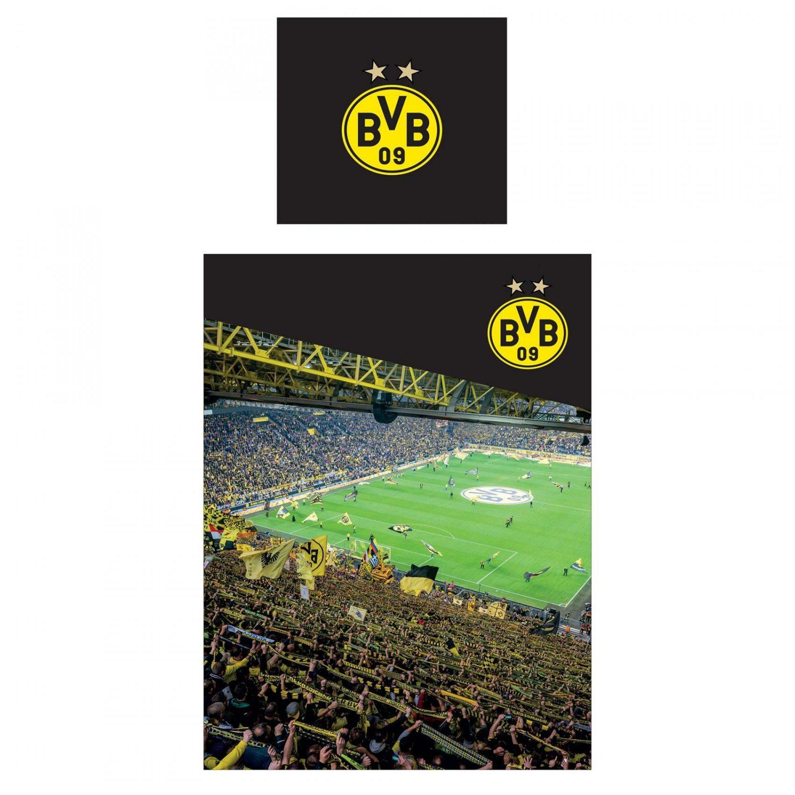 Bvb Borussia Dortmund Stadium Bedding Set 135 X 200Cm 4026649140750 von Bvb Bettwäsche Real Photo