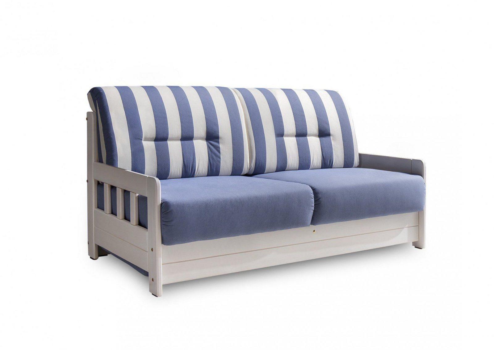 Campi Sofa Blauweißgestreift Von Benformato Möbel Letz  Ihr von Schlafsofa Blau Weiß Gestreift Photo