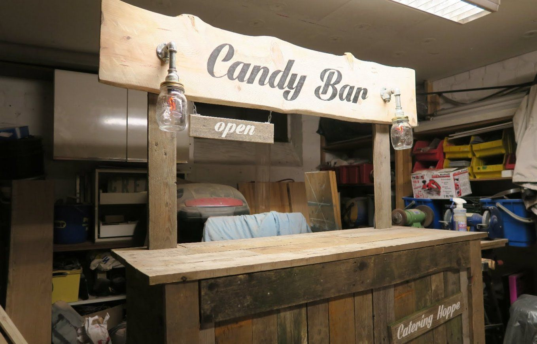 Candy Bar Selber Bauen Aus Paletten Teil 4  Youtube von Bar Selber Bauen Paletten Bild