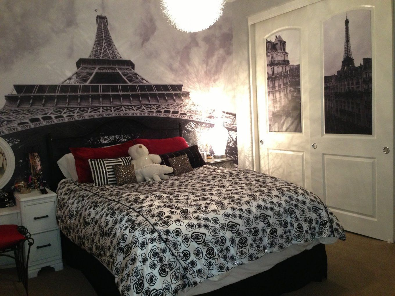 Captivating Home Ideas With Bedroom Girls Paris Room Paris Themed von Girls Paris Themed Bedding Bild