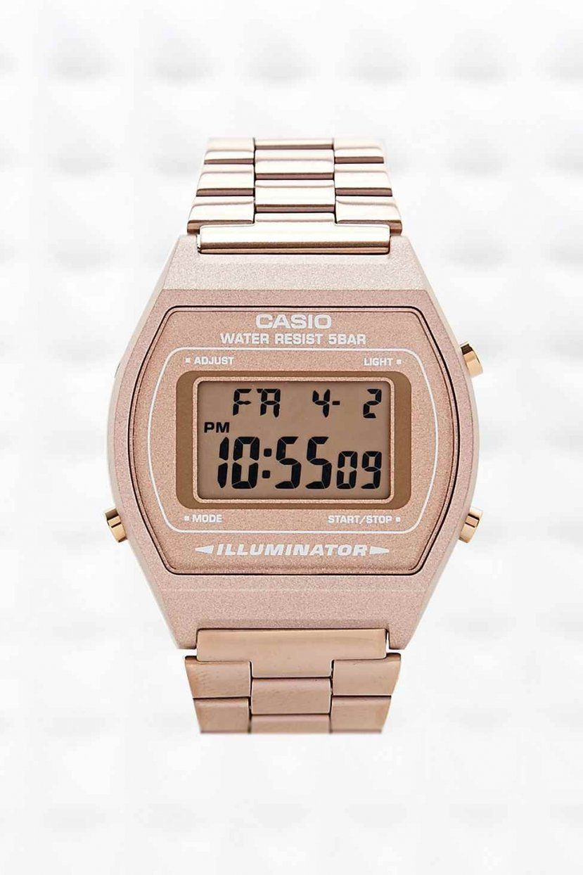 Casio Digitale Armbanduhr In Bronze  Uhren Armbanduhren Und Schmuck von Casio Uhr Damen Rosegold Bild